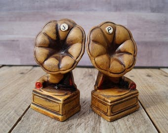Vintage Phonograph Salt and Pepper Shakers