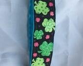 Headband- clover- green headband- Stretch headband- gift for girl- st Patrick's Day- Irish accessory- st patrick gift- green accessory