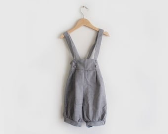 vintage houndstooth baby dungarees