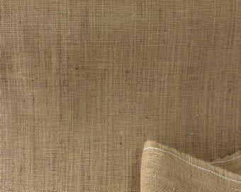 Hessian, 100% Jute burlap fabric for crafts, weddings, bags PER HALF METRE