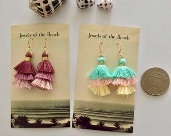 Tiny tassel earrings