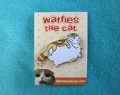 Fat Cat Cute Enamel Pin