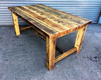 reclaimed rustic farmhouse 68 seater solid wood dining table 550 bar and cafe bar