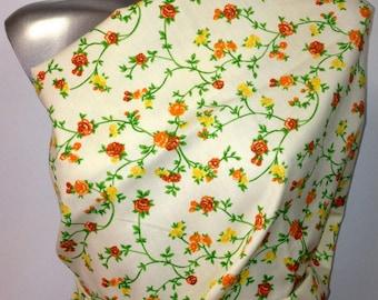 3 metre 200GR M2 width 140cm lot 15 floral printed cotton canvas