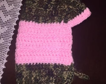 Pink & Camo Dog Sweater