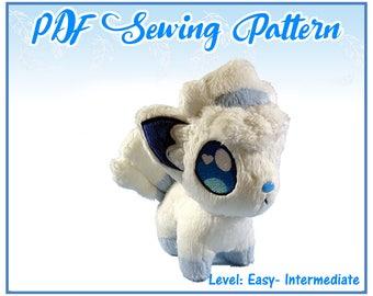 Alolan Vulpix PDF Sewing Pattern (intermediate)