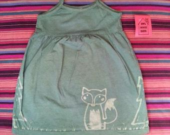 Fox Batik Dress Green Size 4