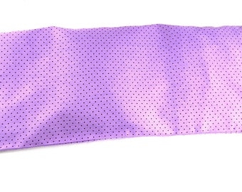 "Neck heating pad in cherry pits 47 x 17 ""Purple polka dot choco"" fabric"