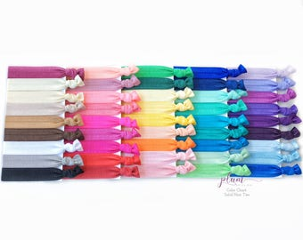 Color Chart for Solid Hair Ties // *Not For Purchase*