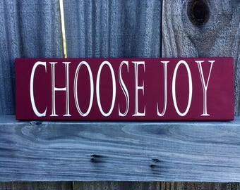 Choose Joy wall hanging