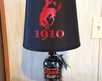 1910 Pendleton Whisky Bottle Lamp