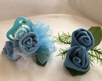 Baby shower Baby Sock Corsage Baby Shower Baby Sock Corsage and Boutonniere Baby Shower Gift Baby Shower Decor