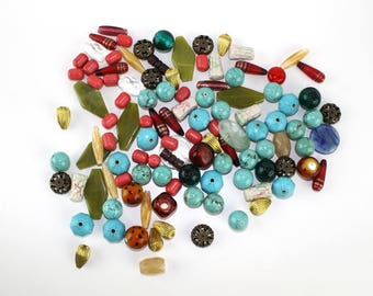 Big Bead Assortment Large Bead Mix Grab Bag Destash