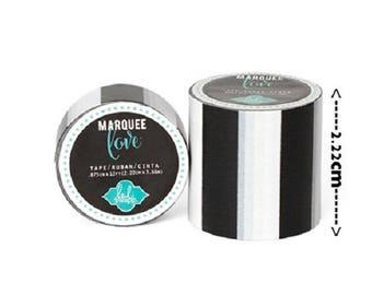 Masking tape / Washi tape fancy - black and white
