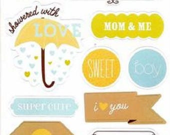 BABY BOY STICKERS / EMBELLISHMENTS SCRAPBOOKING
