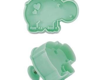 Cookie pusher - cute hippo