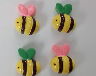 Resin Bumble Bee fridge magnets