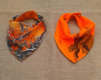 Baby bandana bib  Made with 13  camo fabric colors See select option