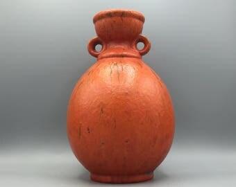"Ruscha ,,Volcano"" Vase, rare glaze, designer ; Kurt Tschöner ,  Vintage Mid-Century Modern Pottery 1960s / 1970s  West Germany."
