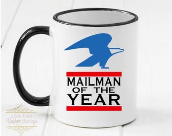 Mailman of the Year - Mailman Gift - Mailman Coffee Mug - Gift for Mail carrier - dishwasher safe - microwave safe - gift for postal worker