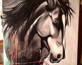 Horse - oil painting
