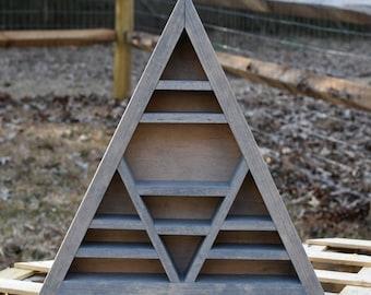Vintage Wash Large Signature Triangle Crystal Display Shelf