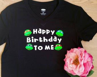 Ninja turtles birthday shirt. Made to order.