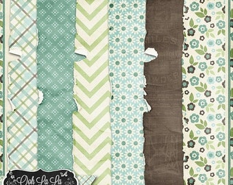 On Sale 50% Afternoon Stroll Worn and Torn Shabby Papers Backgrounds Digital Scrapbooking, Spring, Summer, Grungy
