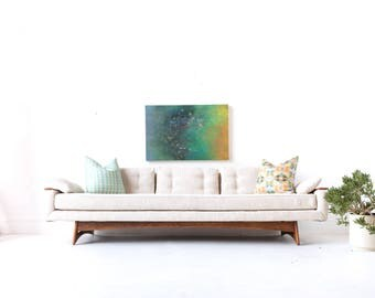 Mid Century Modern Gondola Sofa By Kroehler With New Upholstery   Adrian  Pearsall Style