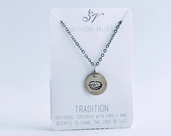 Southern Values Tradition Necklace / Silver / Charm Necklace