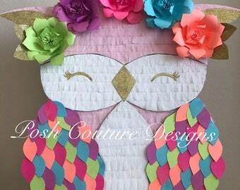 Owl Piñata/ Owl First Birthday/ Owl Photo Prop/ Woodland First Birthday/ Woodland Photo Prop/ Owl Party/ Owl Nursery Decor/ Owl Baby Shower