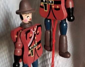 Vintage Jumping Jack Victoria Canada ornaments