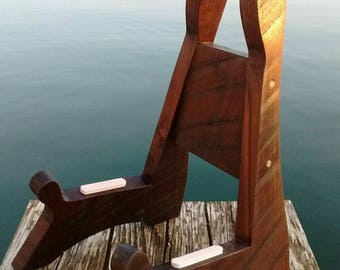 Wooden Acoustic Guitar Stand made from Walnut