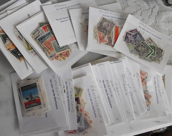 Worldwide Postage Stamps, Large Cancelled Stamp Collection