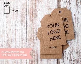 Custom printed 18pt kraft card stock small paper tag