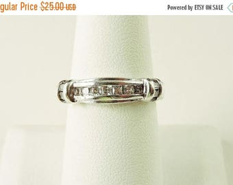 33% Off Christmas in July Size 8 Sterling Silver And Rhinestone Ring