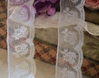 Vintage french Valenciennes lace, , 1950s