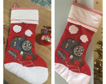 Thomas & Friends Quilted Christmas Stocking- Personalized