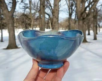 Blue botanical bowl