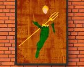 Minimalism Art - Aqua Man...