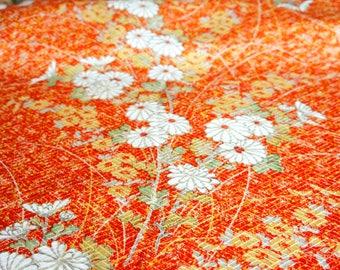 JPI - Vintage Japanese Kimono Silk Fabric **Sunset**