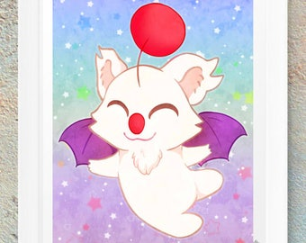 Moogle Final Fantasy Poster Print Picture Geek Nerd Gamer