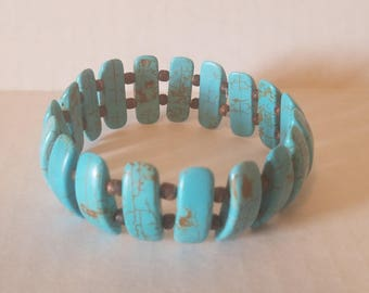 Bracelet Stretch - Reconstructed Turquoise