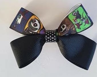 Nightmare before Christmas Hair Bow Clip