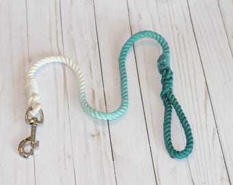 4FT Teal Ombre  Cotton Dog Leash