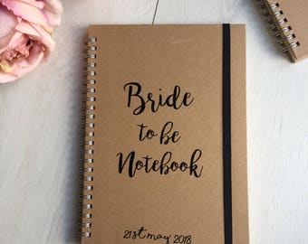 bride to be planner notebook, wedding planner, bride to be gift, engagement wedding gift