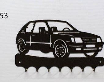 Hangs 26 cm pattern metal keys: Peugeot 205 GTI
