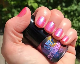 AMY - Strawberry Pink Color Stardust Doctor Who Inspired Nail Polish - Rose Scented - 5-Free & Cruelty Free