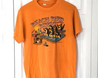 Vtg Funny Graphic Paper Thin T-shirt