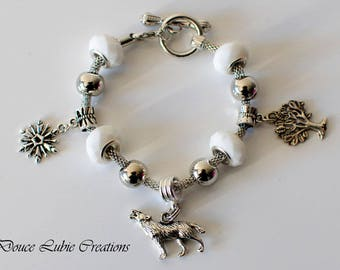 "Winterfell ""Game of Thrones"" themed charm bracelet"